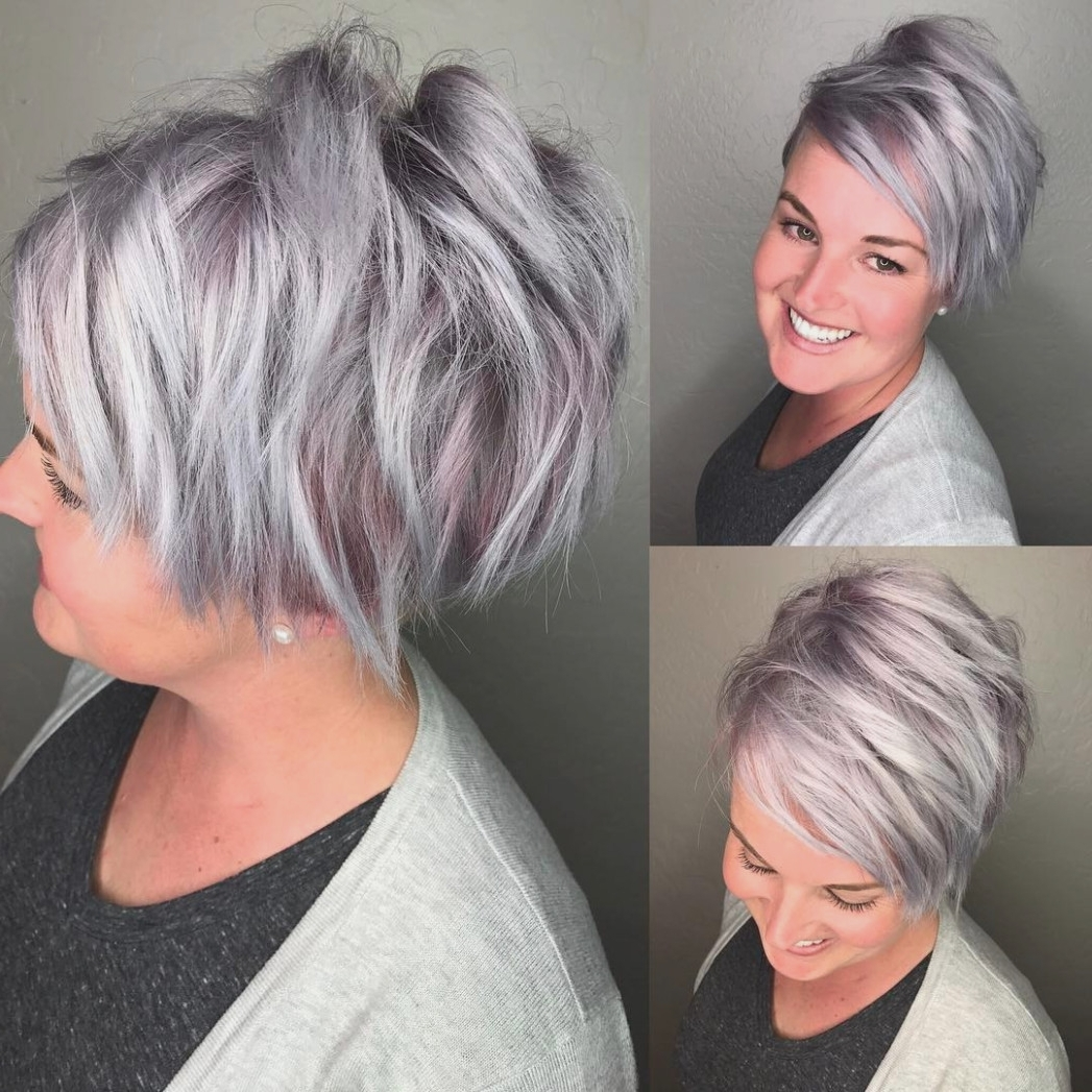Most Current Gray Blonde Pixie Hairstyles Throughout 47 Cute Pixie Cuts: Short Hairstyles For Oval Faces – Popular (View 15 of 20)