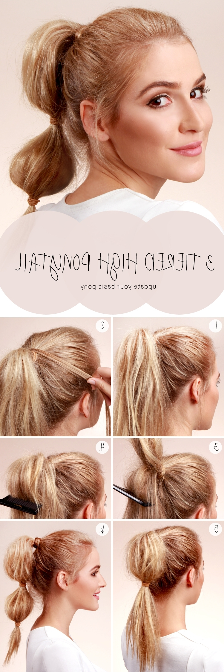 Most Current High Bubble Ponytail Hairstyles In Bubble Ponytail Tutorial – Hair (View 11 of 20)