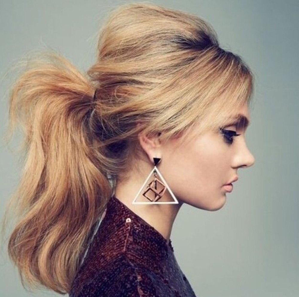 Most Current High Ponytail Hairstyles With Side Bangs Throughout High Ponytail (View 9 of 20)