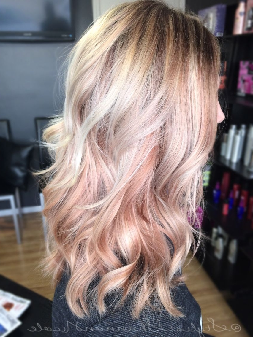 Most Current Light Golden Blonde With Platinum Highlights Within Two Tone Platinum With The Rose Gold Under Layer This Might Be My (View 11 of 20)