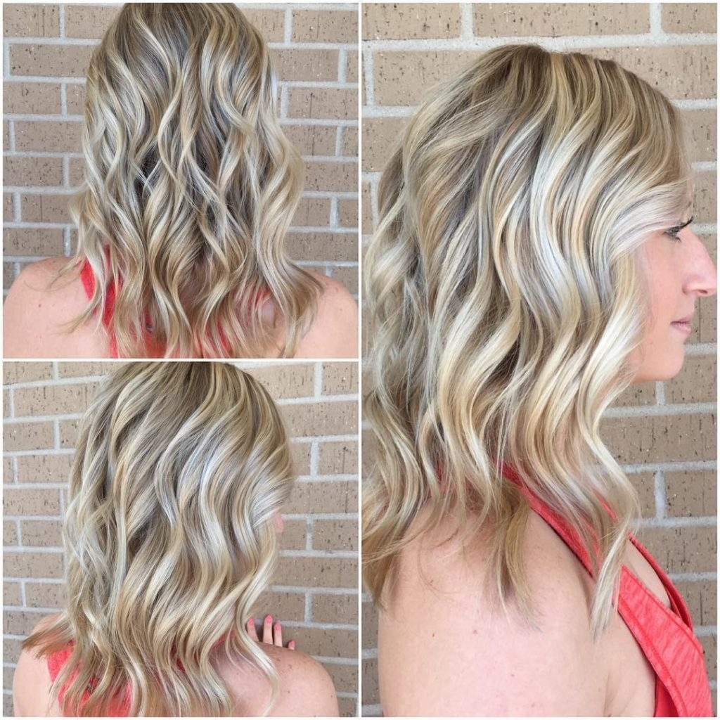 Most Current Long Bob Blonde Hairstyles With Babylights Intended For Women's Beautiful Wavy Long Blonde Bob With Highlights Womens Mid (View 11 of 20)