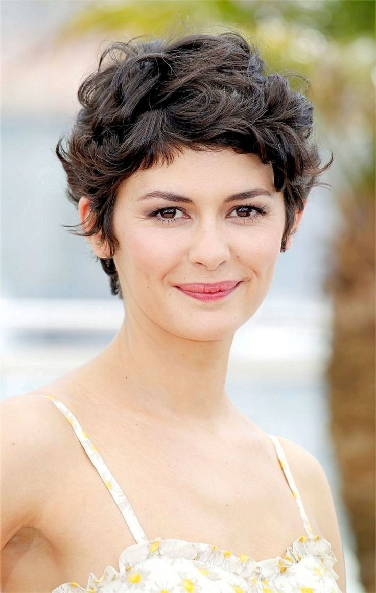 Most Current Long Curly Pixie Hairstyles For Short Curly Pixie Haircuts (View 13 of 20)