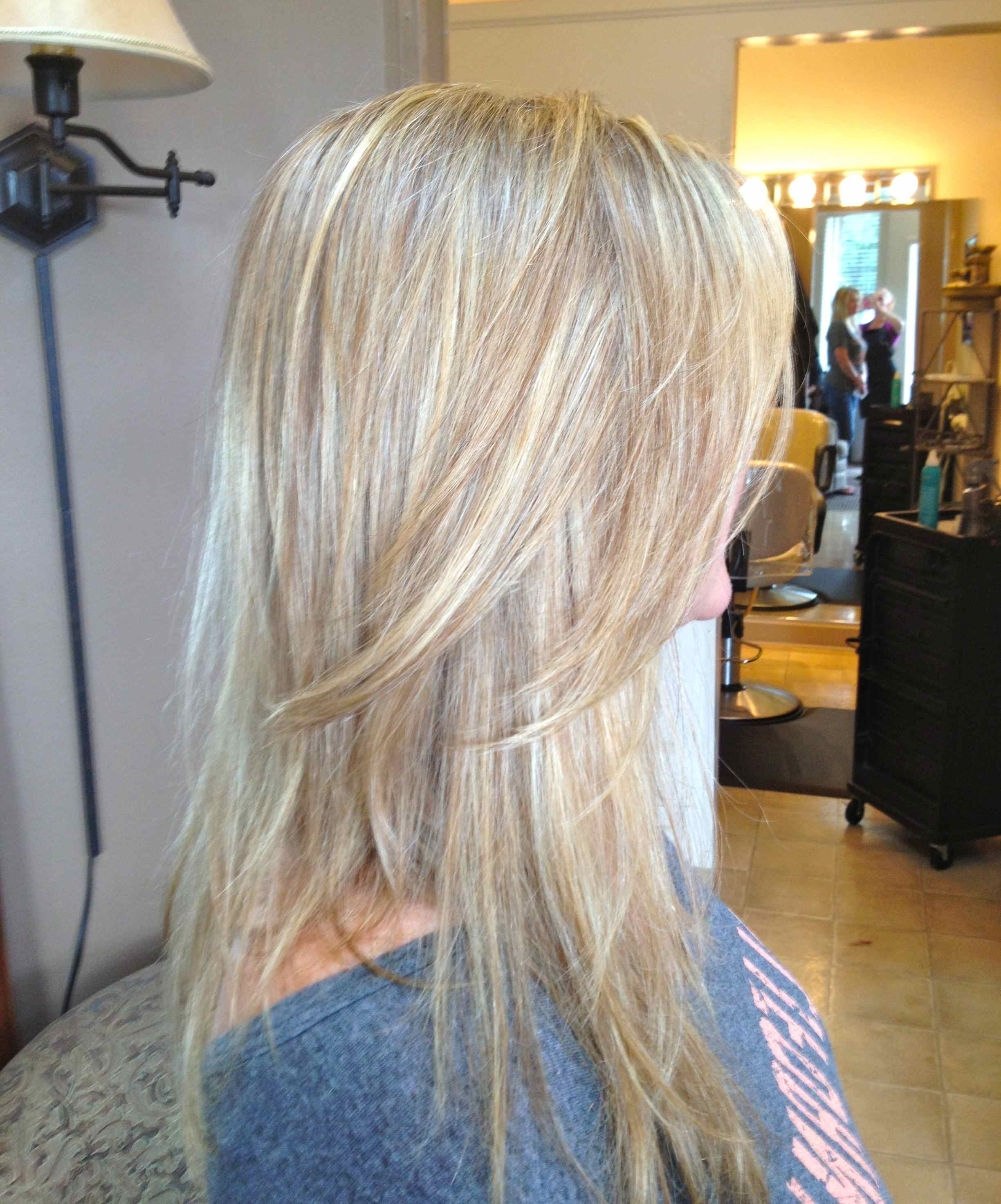 Most Current Loose Curls Blonde With Streaks Pertaining To Our Work (View 13 of 20)