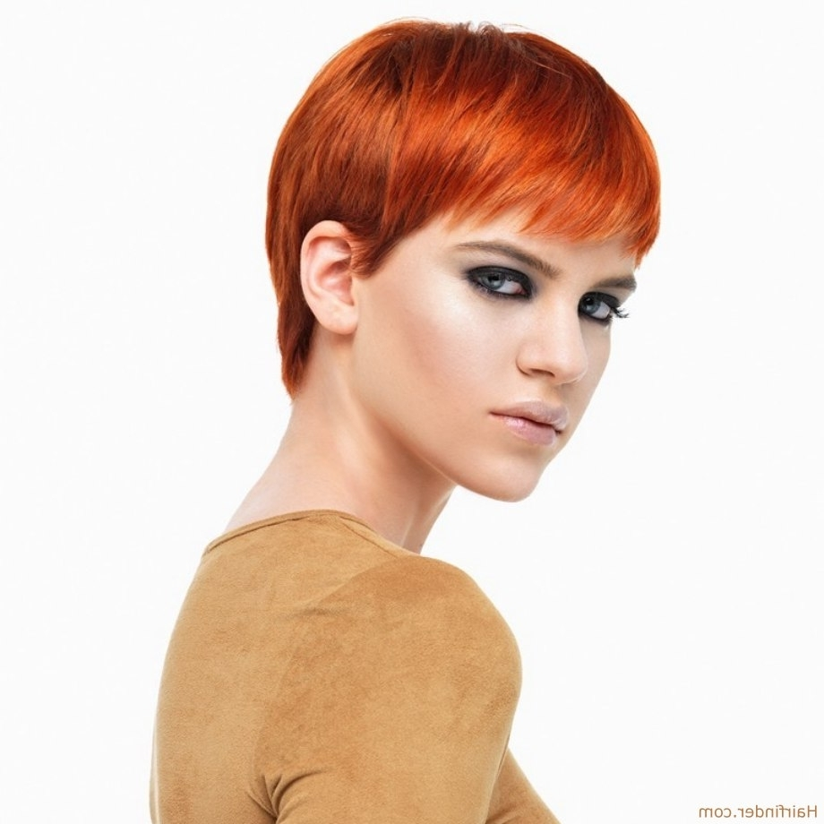 Most Current Ravishing Red Pixie Hairstyles With Copper Red Hair In A Classic Pixie Cut With A Fringe (View 11 of 20)