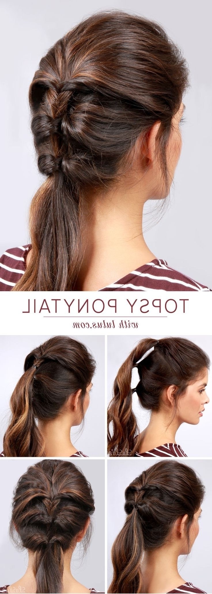 Most Current Stylish Low Pony Hairstyles With Bump In 20 Ponytail Hairstyles: Discover Latest Ponytail Ideas Now (View 11 of 20)