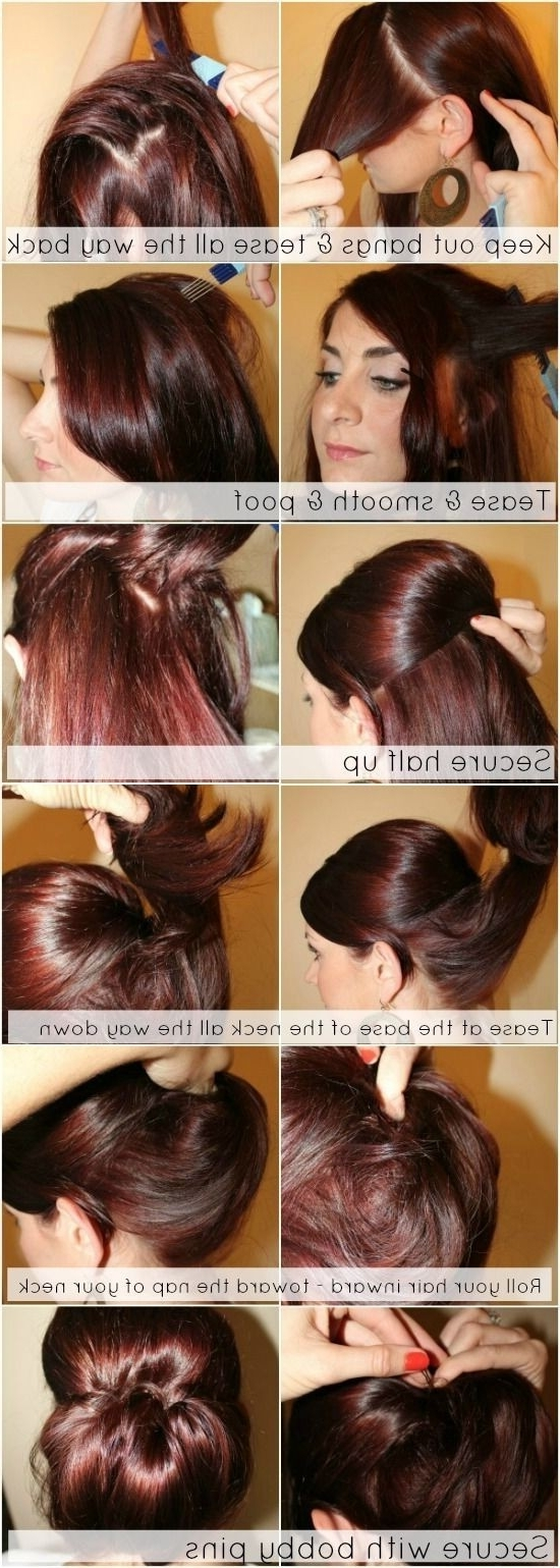 Most Current Updo Ponytail Hairstyles With Poof Throughout 12 Trendy Low Bun Updo Hairstyles Tutorials: Easy Cute – Popular (View 16 of 20)