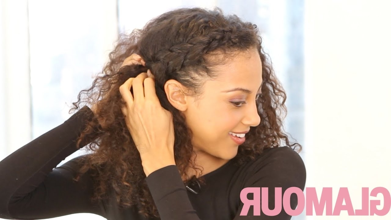 Most Current Wavy And Braided Hairstyles For Curly Hairstyle How To: The Braided Updo—Hey Hair Genius – Glamour (View 13 of 20)
