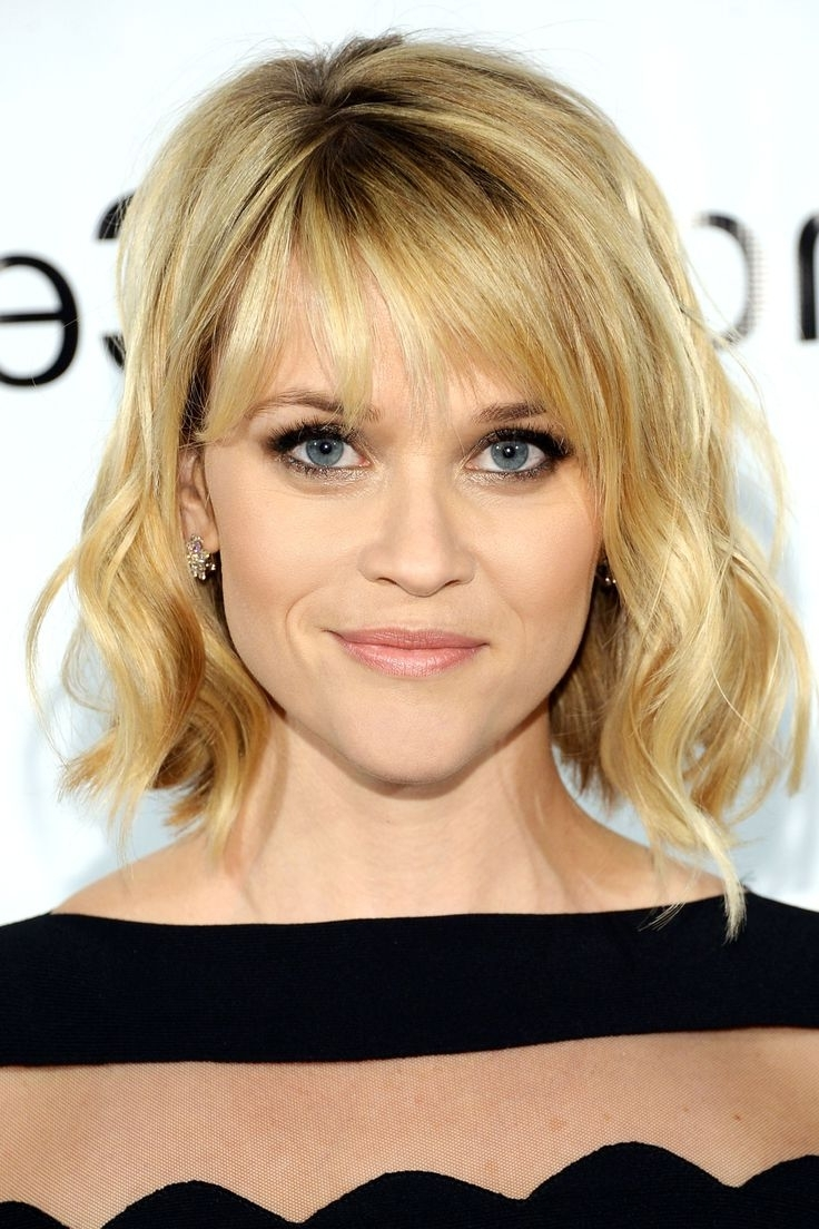 Most Popular Blonde Lob Hairstyles With Sweeping Bangs Pertaining To Best Side Swept Bangs Hairstyle (2018) (View 11 of 20)