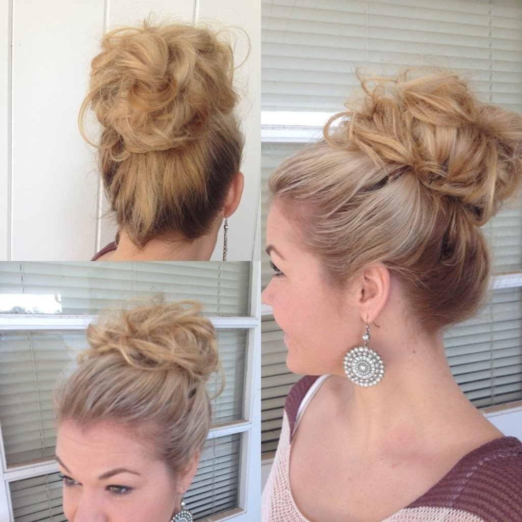 Most Popular Bouffant And Braid Ponytail Hairstyles Inside Big Bouffant Hair Bun – Youtube (View 14 of 20)