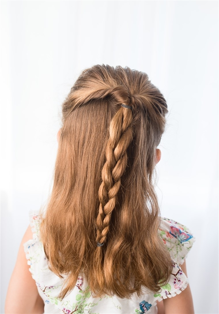 Most Popular Braided Along The Way Hairstyles Regarding Easy Hairstyles For Girls That You Can Create In Minutes (View 14 of 20)