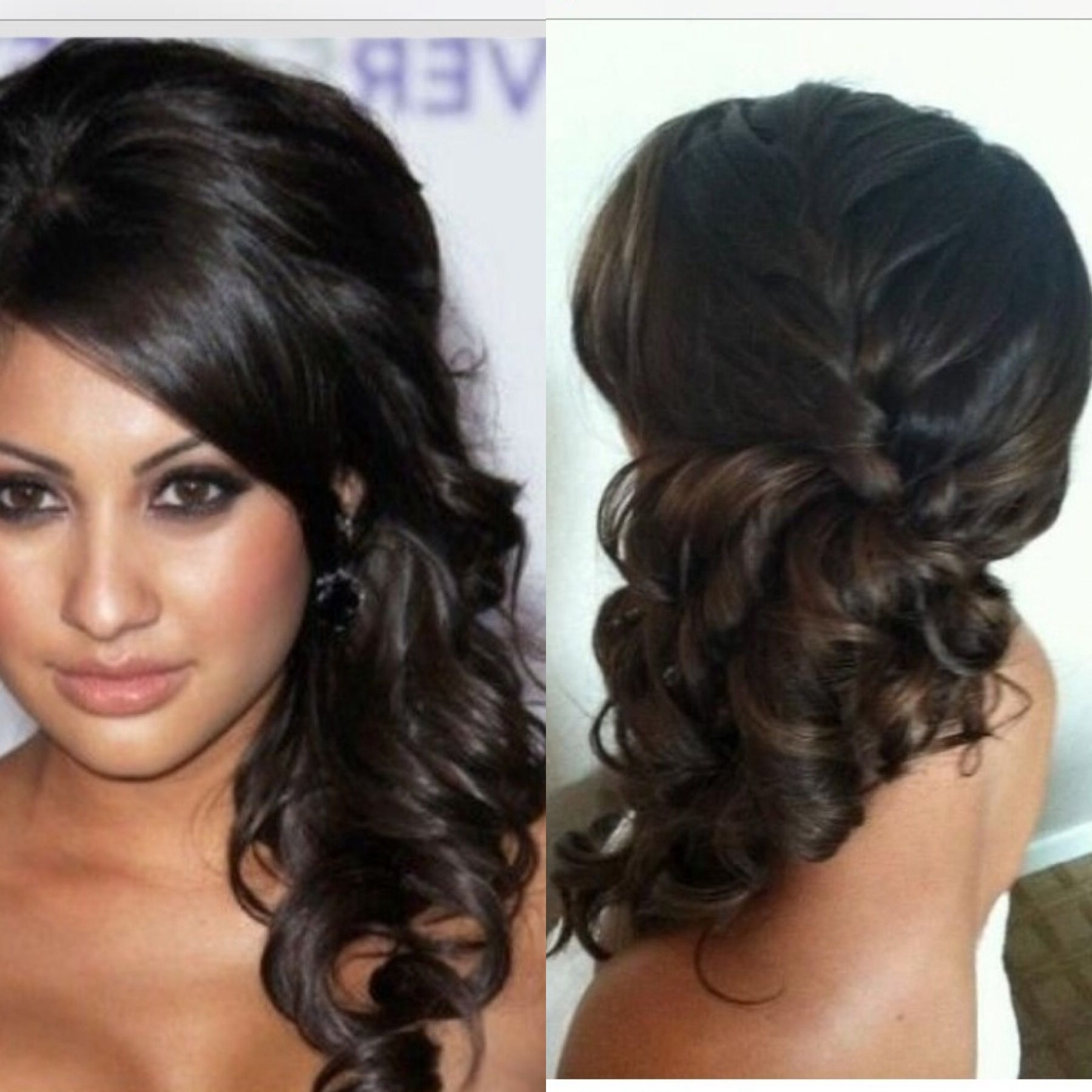 Most Popular Formal Side Pony Hairstyles For Brunettes With Regard To Bridesmaid Hair. Up Do (View 13 of 20)