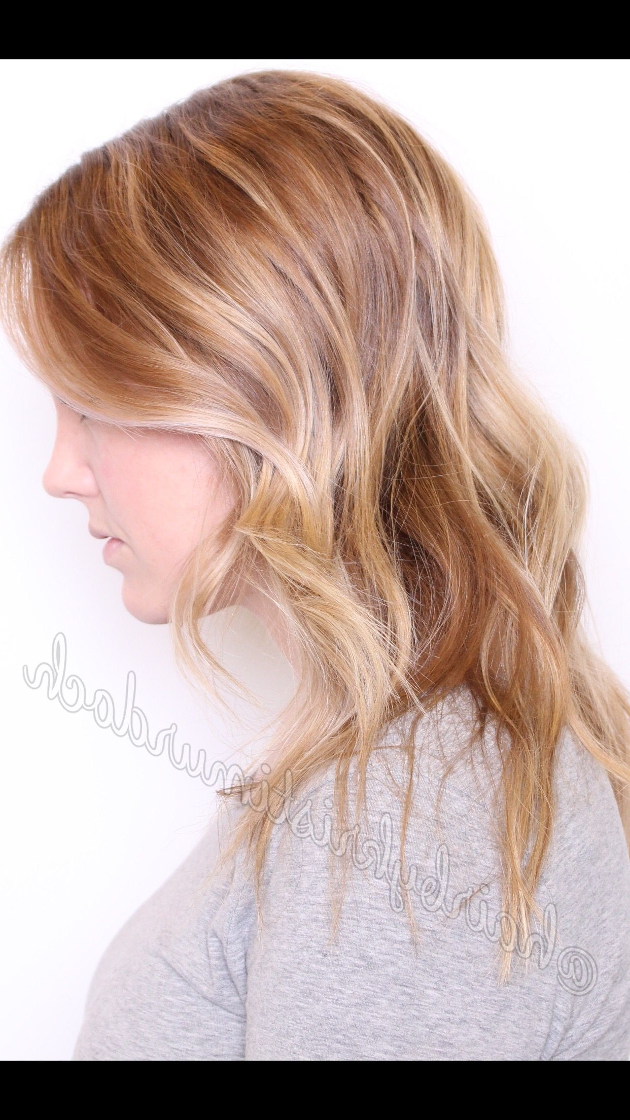 Most Popular Honey Hued Beach Waves Blonde Hairstyles Inside Blonde Balayage, Blonde Baby Lights, Babylights, Honey Blonde (View 13 of 20)