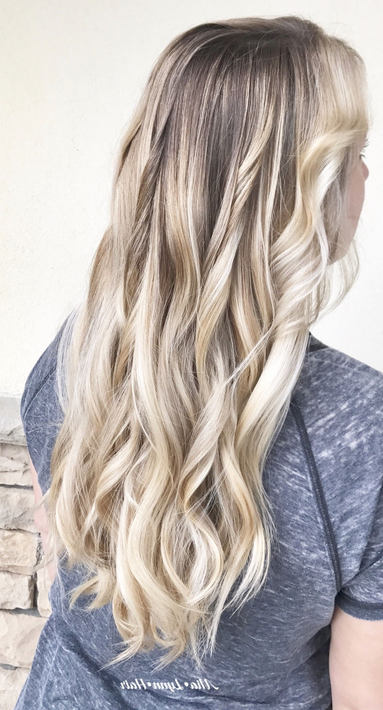 Most Popular Icy Ombre Waves Blonde Hairstyles Throughout Blonde Hair, Blonde, Waves, Painted Hair, Blonde Balayage, Sombre (View 10 of 20)