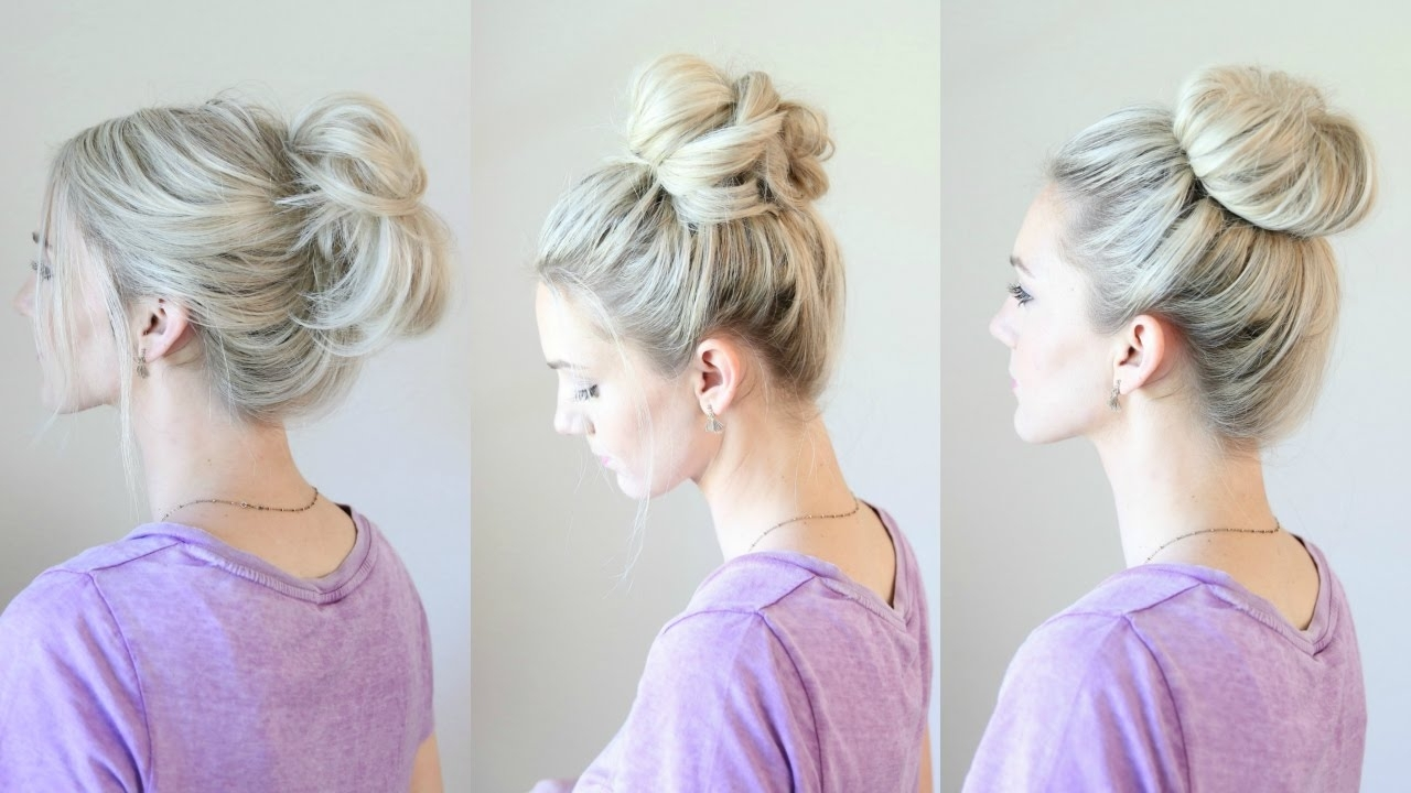 Most Popular Loose Messy Ponytail Hairstyles For Dyed Hair In 6 Easy Messy Buns – Youtube (View 16 of 20)
