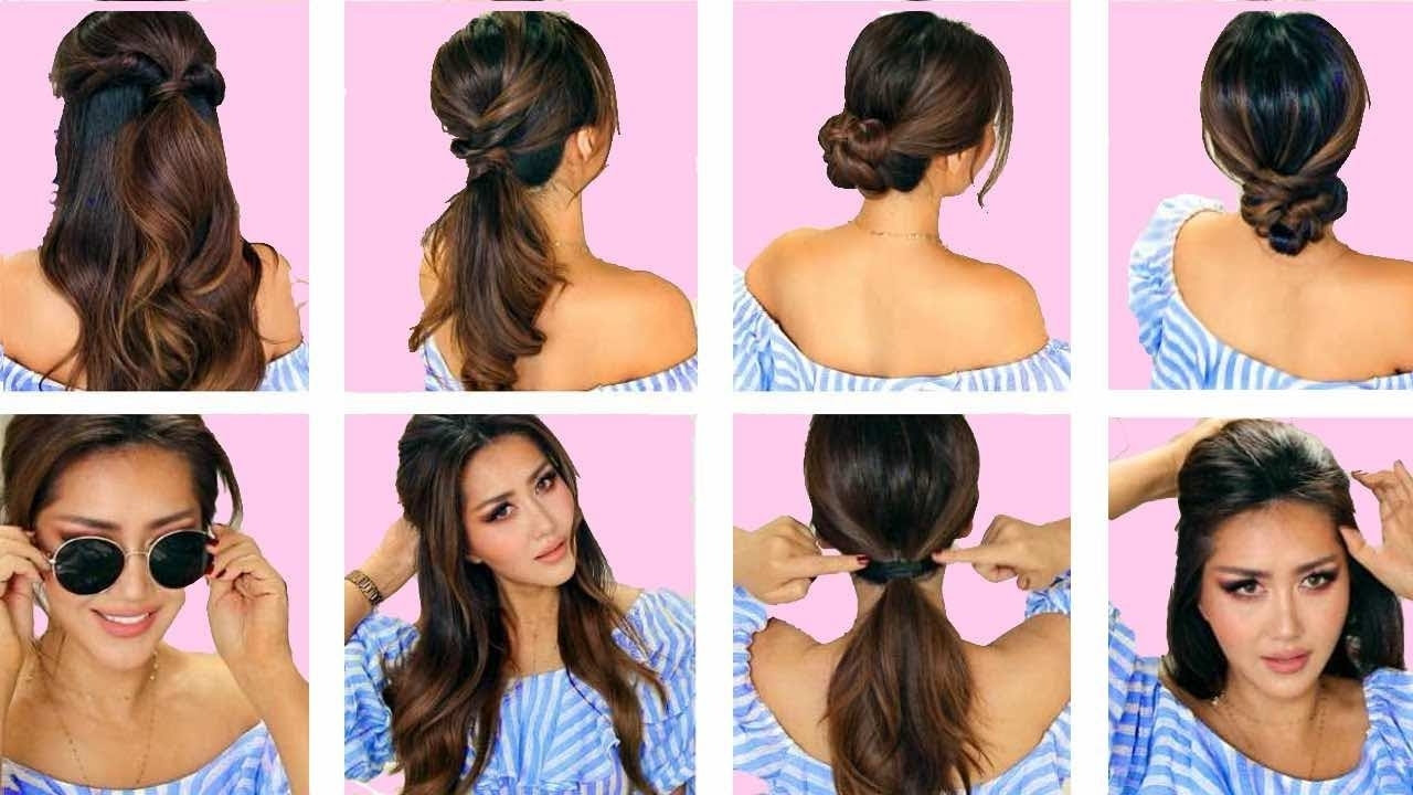 Most Popular Midi Half Up Half Down Ponytail Hairstyles In ☆top 5 ? Lazy Everyday Hairstyles With Puff ? Quick & Easy Braids (View 6 of 20)
