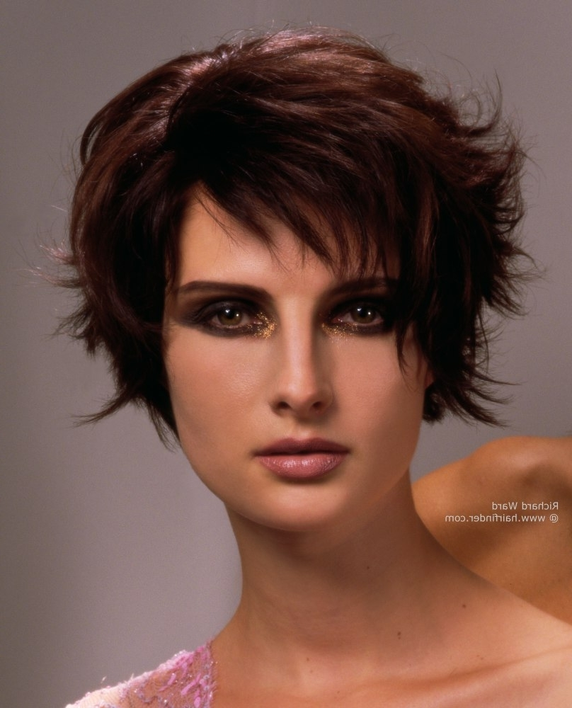 Most Popular Reddish Brown Layered Pixie Bob Hairstyles Intended For Longer Pixie Cut With Razor Cut Layering (View 15 of 20)