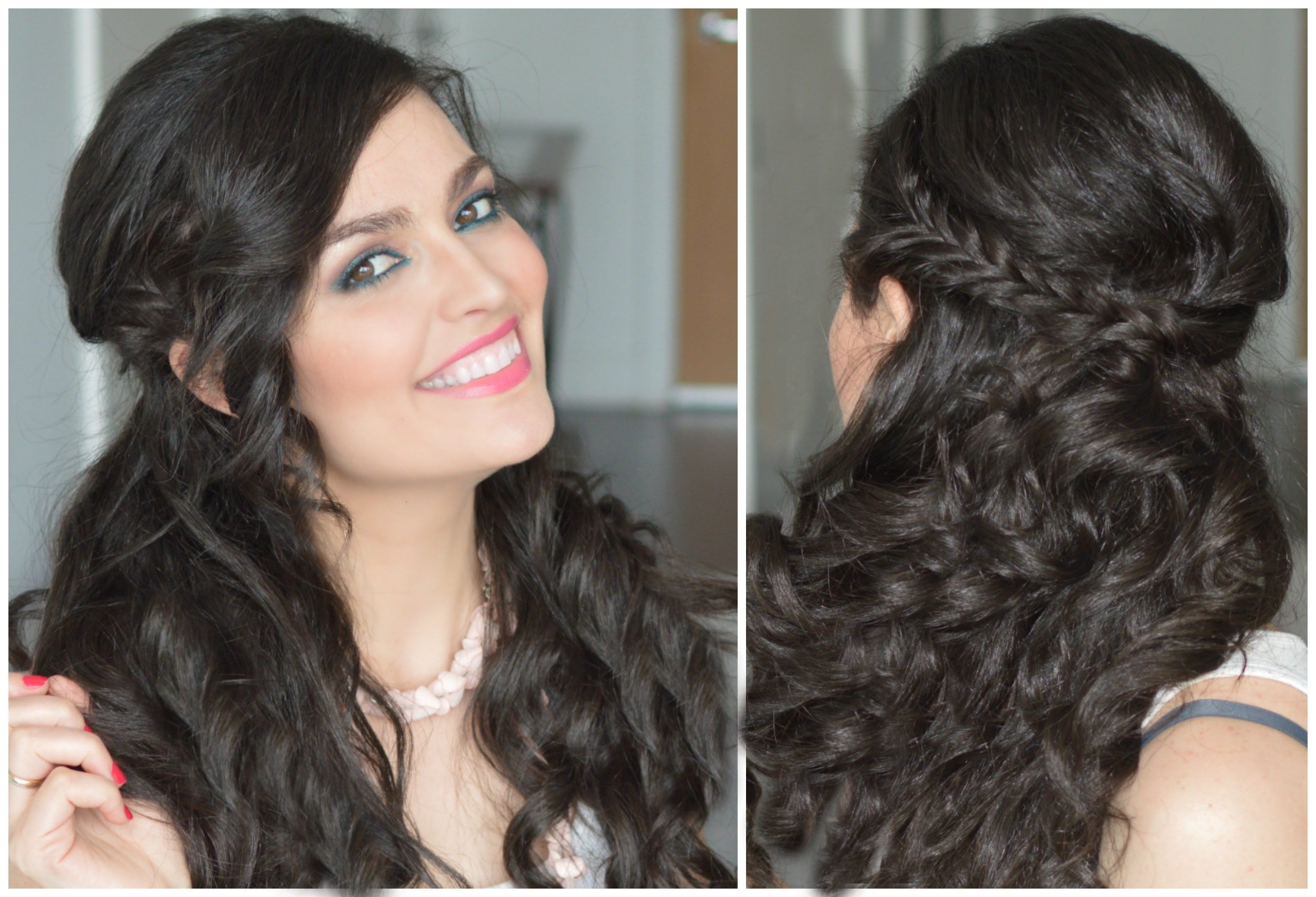 Most Popular Wavy Side Fishtail Hairstyles Throughout Half Up Half Down Hairstyle (View 11 of 20)