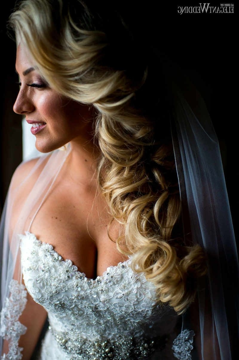 Most Popular White Wedding Blonde Hairstyles Pertaining To Wavy Blonde Bridal Hair, Blonde Bridal Hairstyle Www (View 6 of 20)