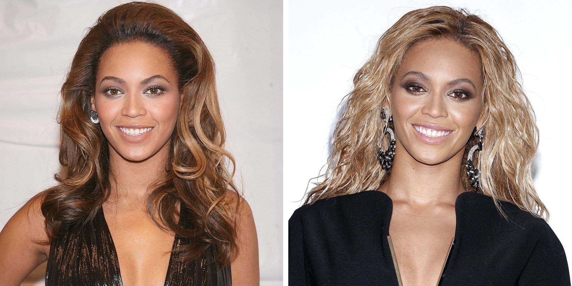 Most Recent Blonde And Brunette Hairstyles Pertaining To 28 Celebrities With Blonde Vs (View 13 of 20)