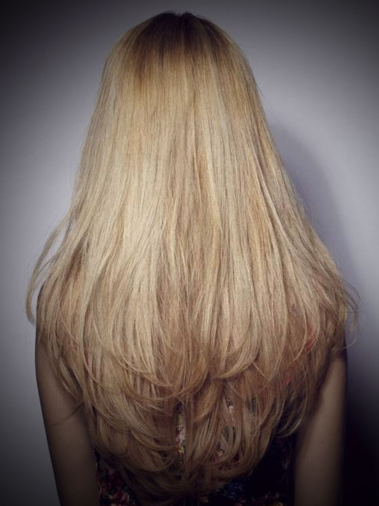 Most Recent Brown Blonde Layers Hairstyles In Back View Of Long Layered Hairstyles Long U Layered Haircuts Back (View 15 of 20)