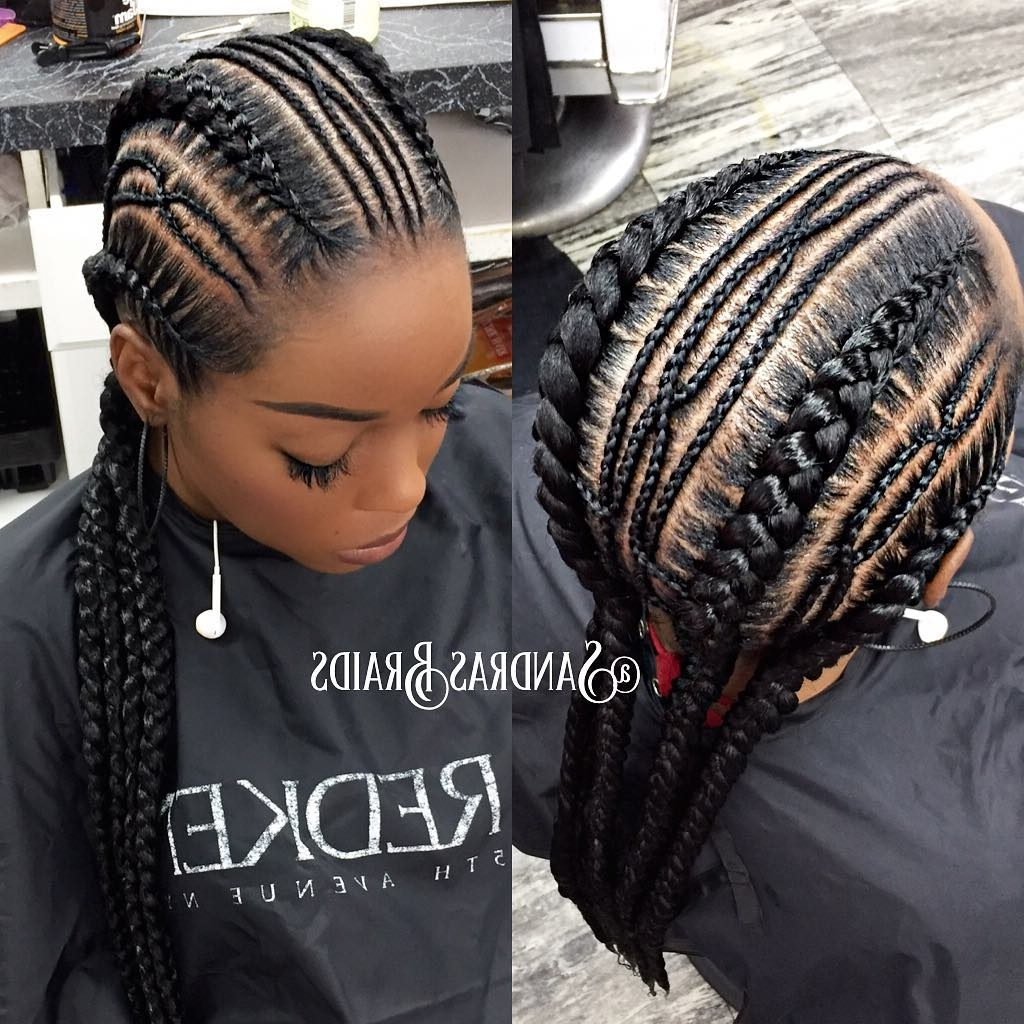 Most Recent Chunky Black Ghana Braids Ponytail Hairstyles Inside 30 Gorgeous Ghana Braids For An All Black Style (View 15 of 20)
