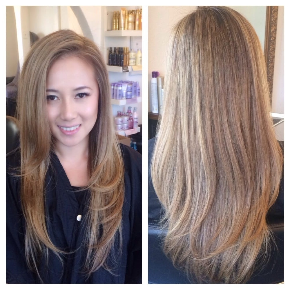 Most Recent Cool Dirty Blonde Balayage Hairstyles With 31 Interesting Blonde Hair Ideas For Asian Women (View 14 of 20)