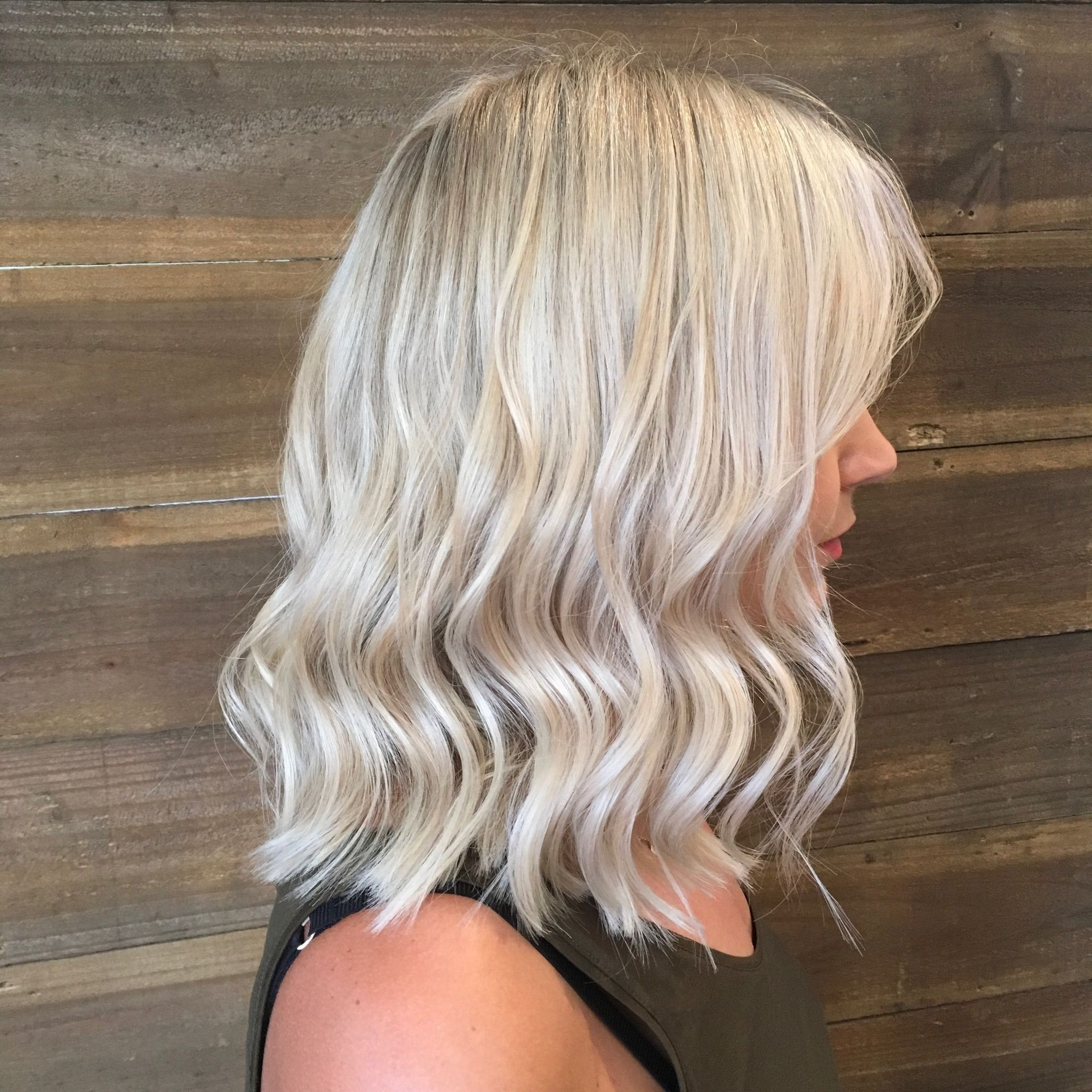 Most Recent Creamy Blonde Waves With Bangs Regarding Blonde Blondes Bright Blondes Creamy Blondes Waves Style Ashy (View 6 of 20)