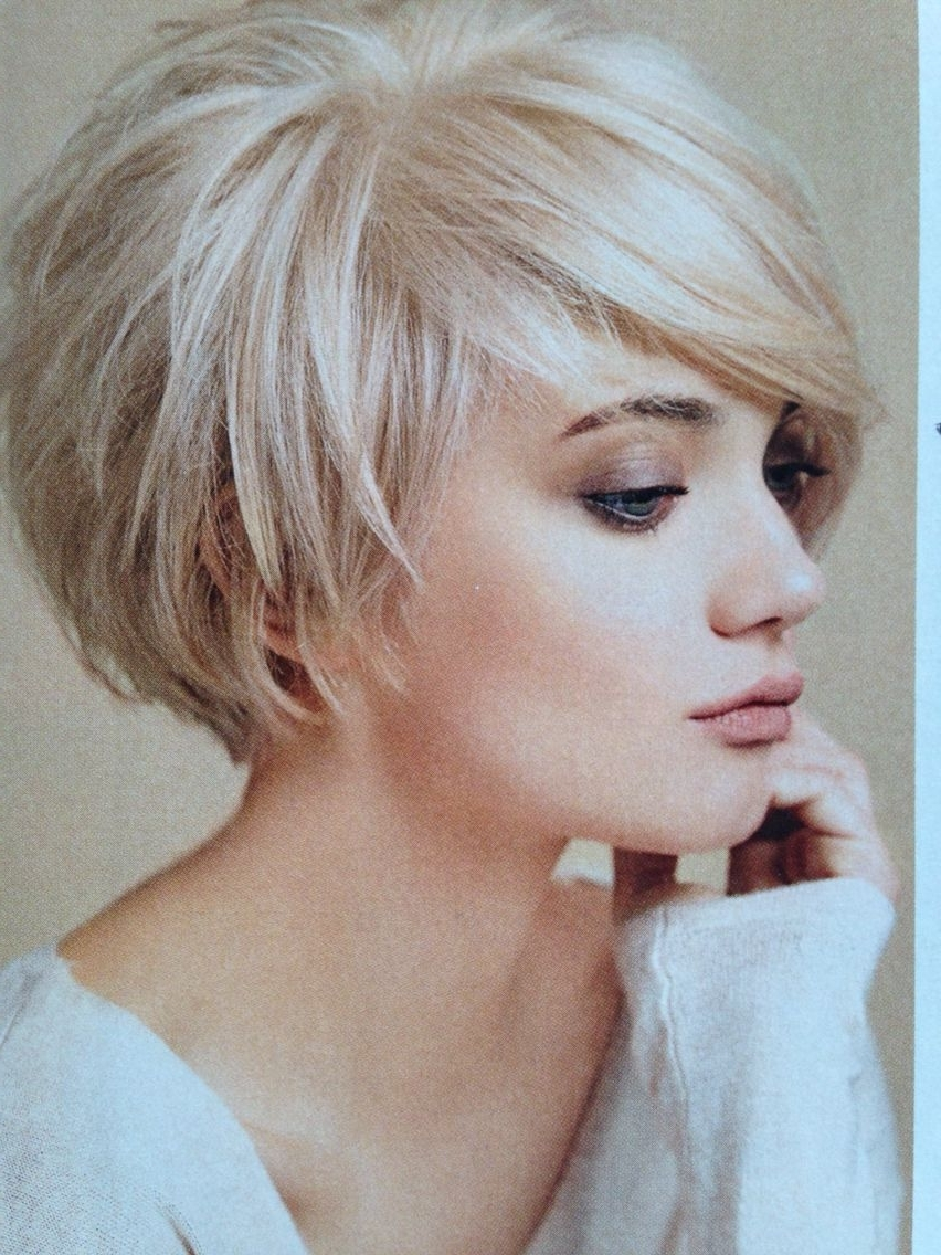 Most Recent Cute Blonde Bob With Short Bangs With Layered Bob … (View 16 of 20)