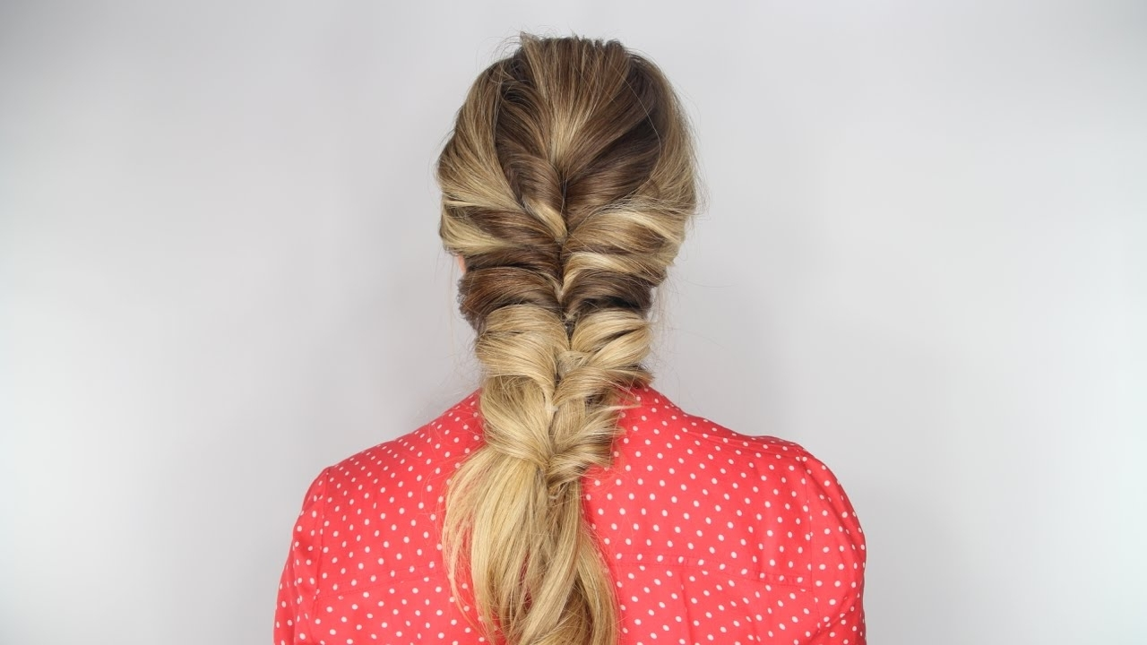 Most Recent Double Floating Braid Hairstyles In The Stacked Topsy Tail Braid Tutorial – Youtube (View 13 of 20)