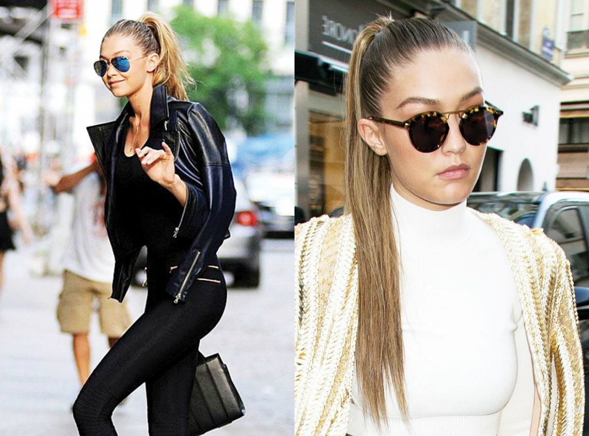 Most Recent Gigi Hadid Inspired Ponytail Hairstyles In Sky High Ponytail Hairstyles To Reach Peak Of Success (View 16 of 20)