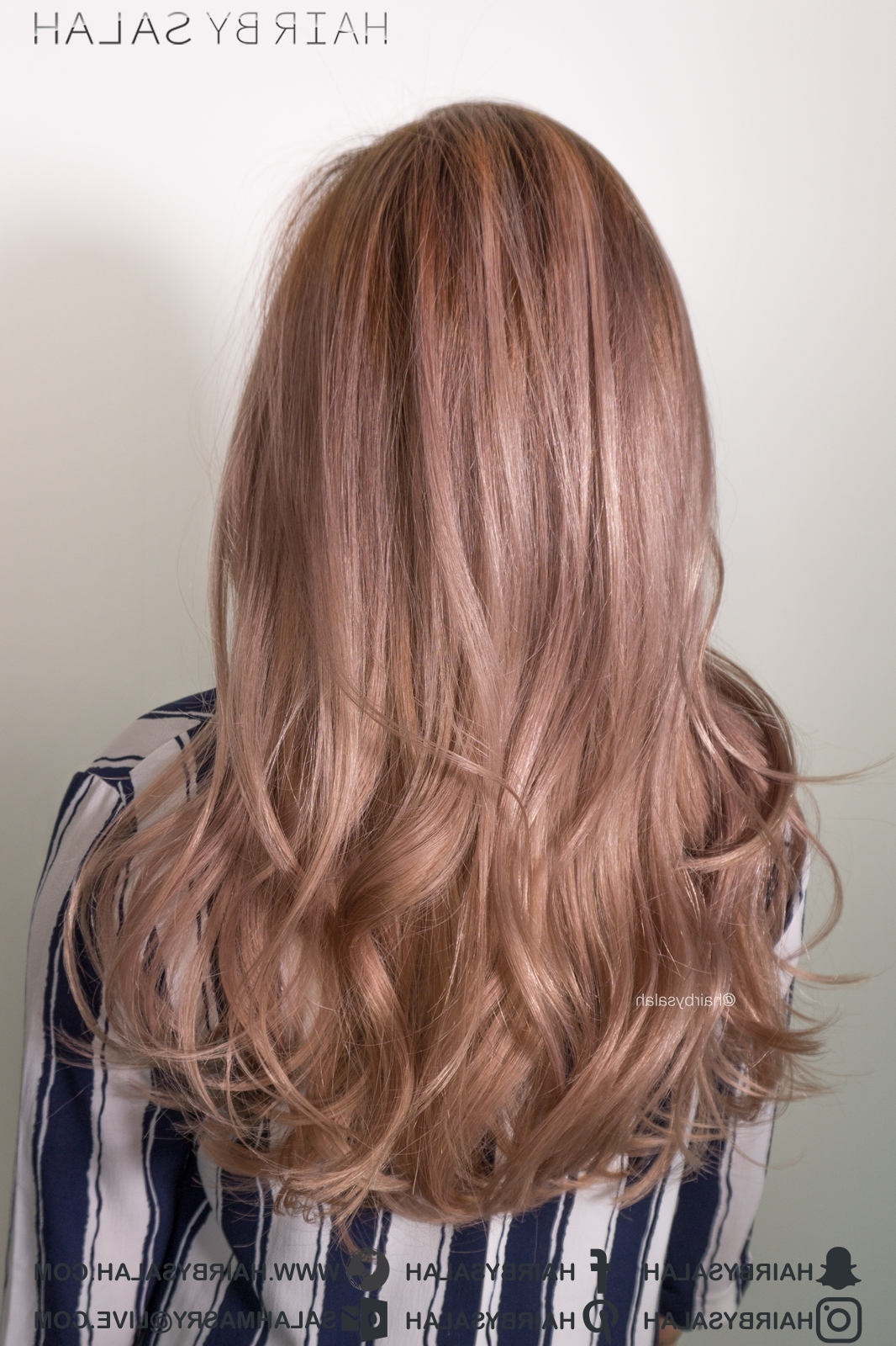 Most Recent Golden Bronze Blonde Hairstyles With Rose Gold Blonde Hair Color – Hairsalah (View 19 of 20)