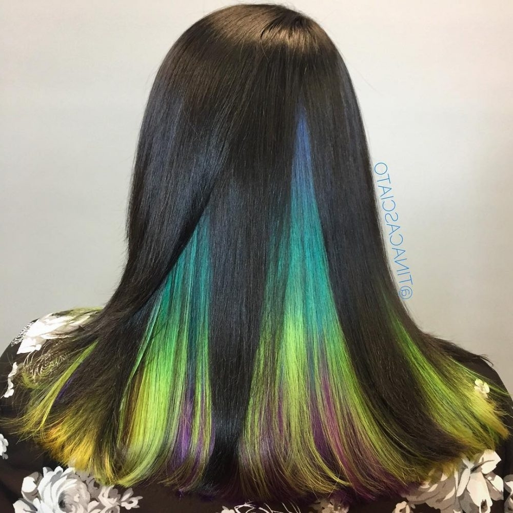 Most Recent High Braided Pony Hairstyles With Peek A Boo Bangs Regarding 33 Cutest Peekaboo Highlights You'll Ever See In  (View 15 of 20)