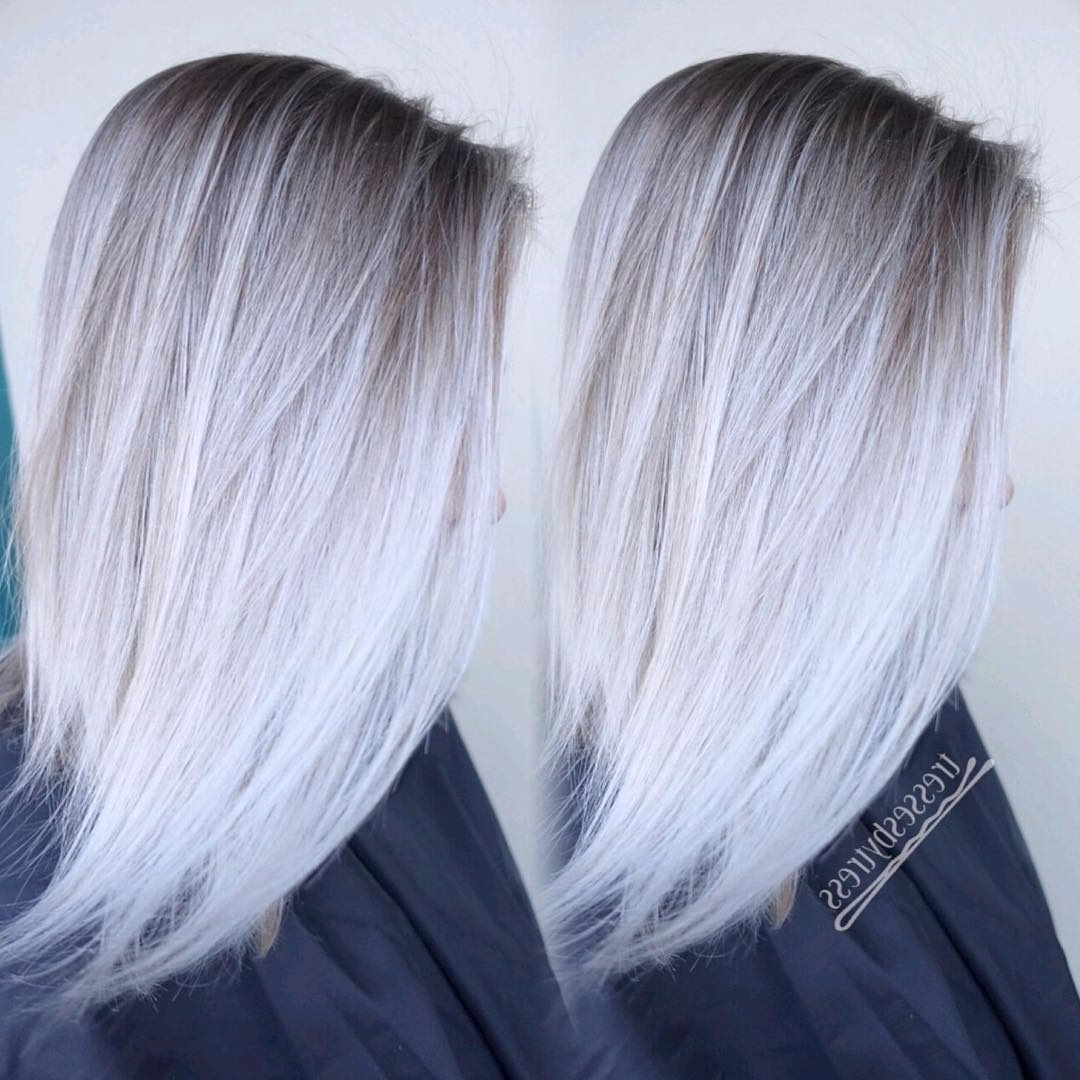 Most Recent Long Blonde Bob Hairstyles In Silver White In 20 Trendy Hair Color Ideas For Women – 2017: Platinum Blonde Hair Ideas (View 11 of 20)