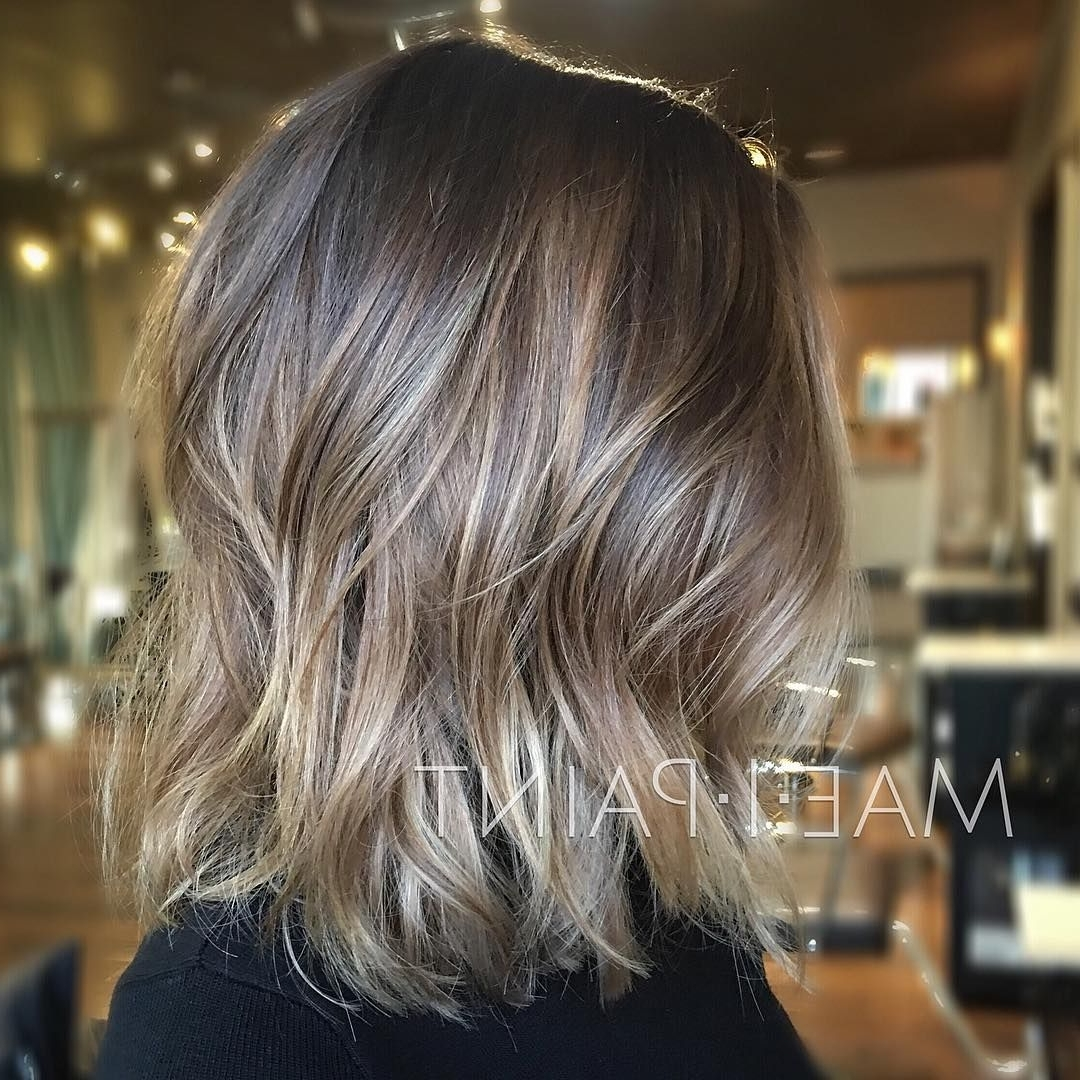 Most Recent Ombre Ed Blonde Lob Hairstyles Inside Ashy Blonde Lob (View 10 of 20)