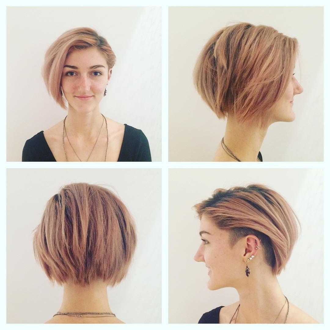 Most Recent Pixie Bob Hairstyles With Temple Undercut For Pretty Undercut Bob With Side Bangs Hair Styles Pinterest Also (View 16 of 20)