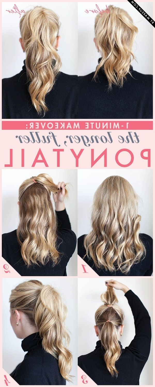 Most Recent Pumped Up Messy Ponytail Hairstyles Pertaining To 20 Simple Styles For Long Hair That Don't Take A Long Time (View 13 of 20)