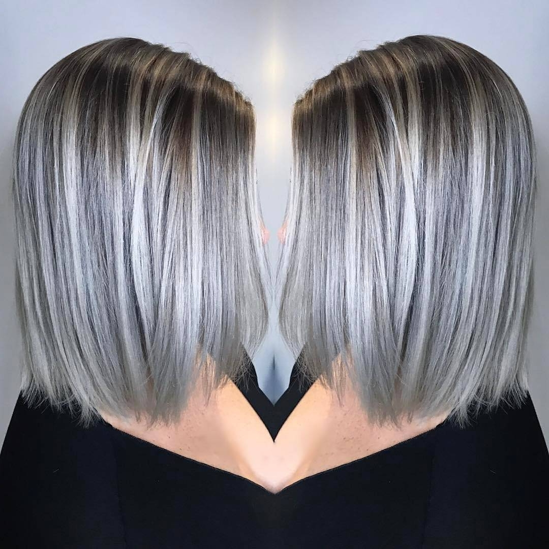 Most Recent Short Silver Blonde Bob Hairstyles Within 10 Blonde Balayage Hair Color Ideas In Beige Gold Silver & Ash (View 11 of 20)