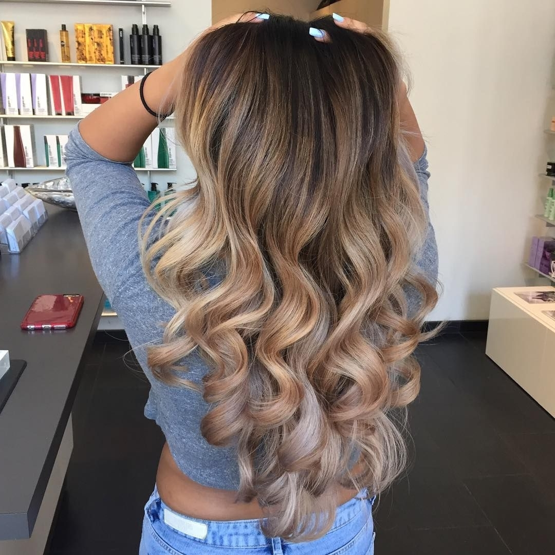 Most Recent Soft Flaxen Blonde Curls Hairstyles Within 70 Flattering Balayage Hair Color Ideas For  (View 14 of 20)