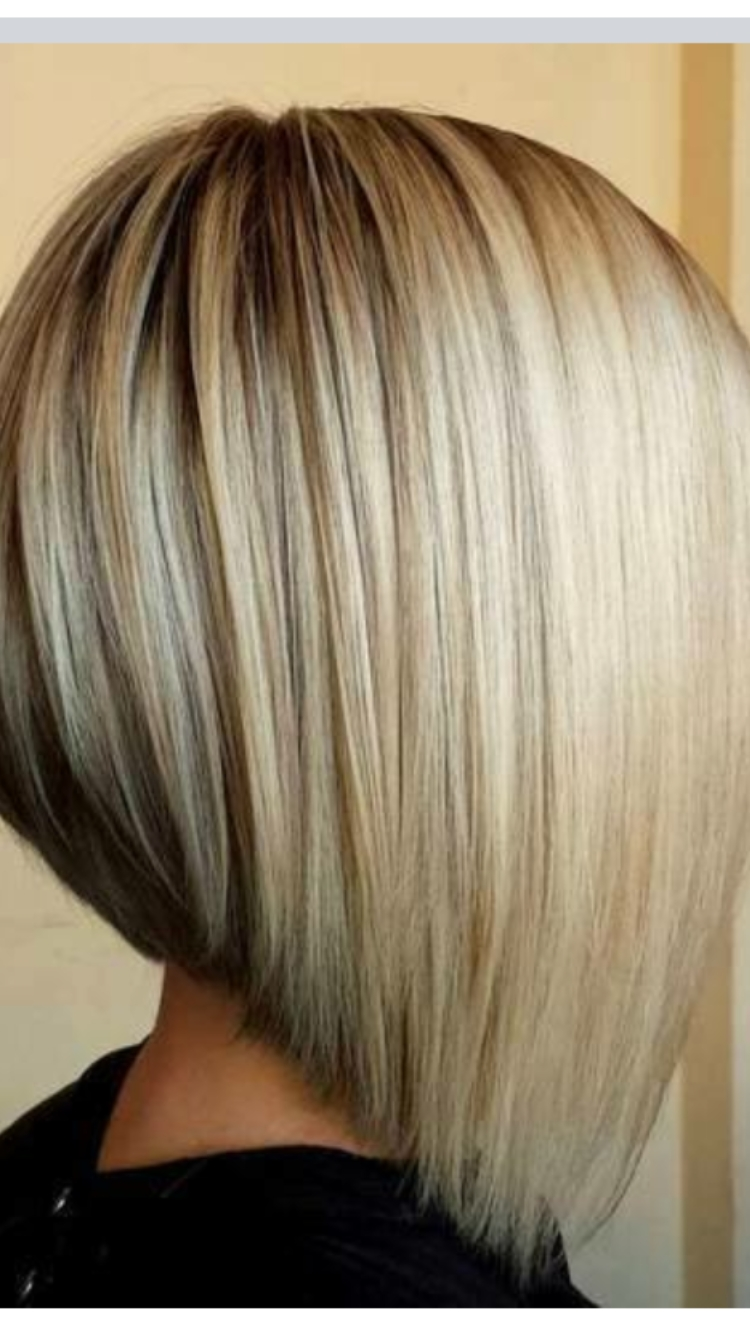Most Recent Steeply Angled A Line Lob Blonde Hairstyles Pertaining To Pinsharon Murray On Hairstyles (View 15 of 20)