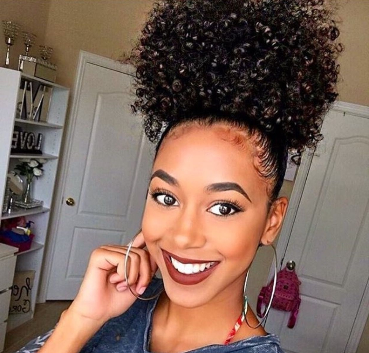 Most Recent Stylish Supersized Ponytail Hairstyles For Pinlisa Humphrey On Black Woman (View 12 of 20)