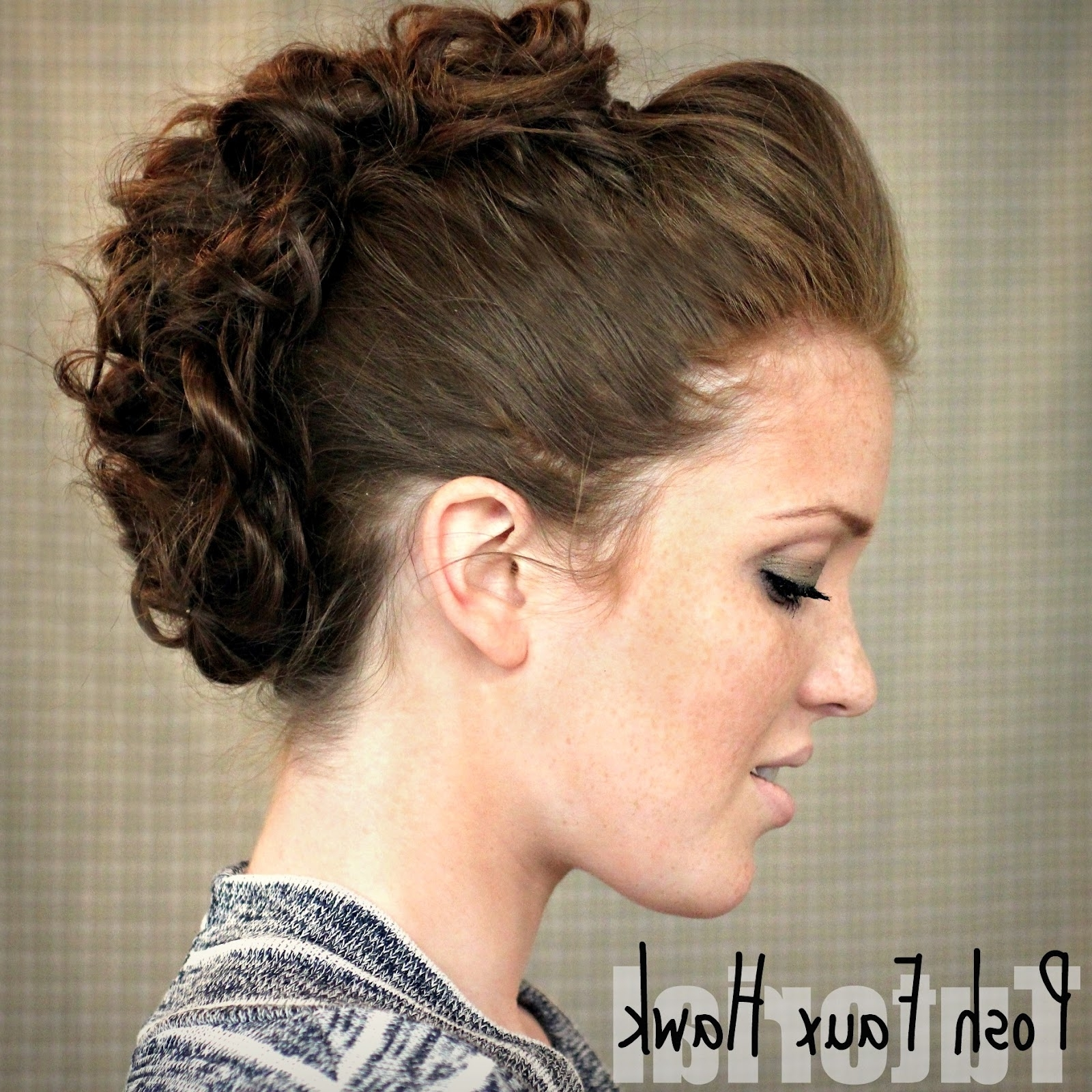 Most Recent Two Tone High Ponytail Hairstyles With A Fauxhawk Regarding The Freckled Fox: Hair Tutorial // Posh Faux Hawk (View 14 of 20)