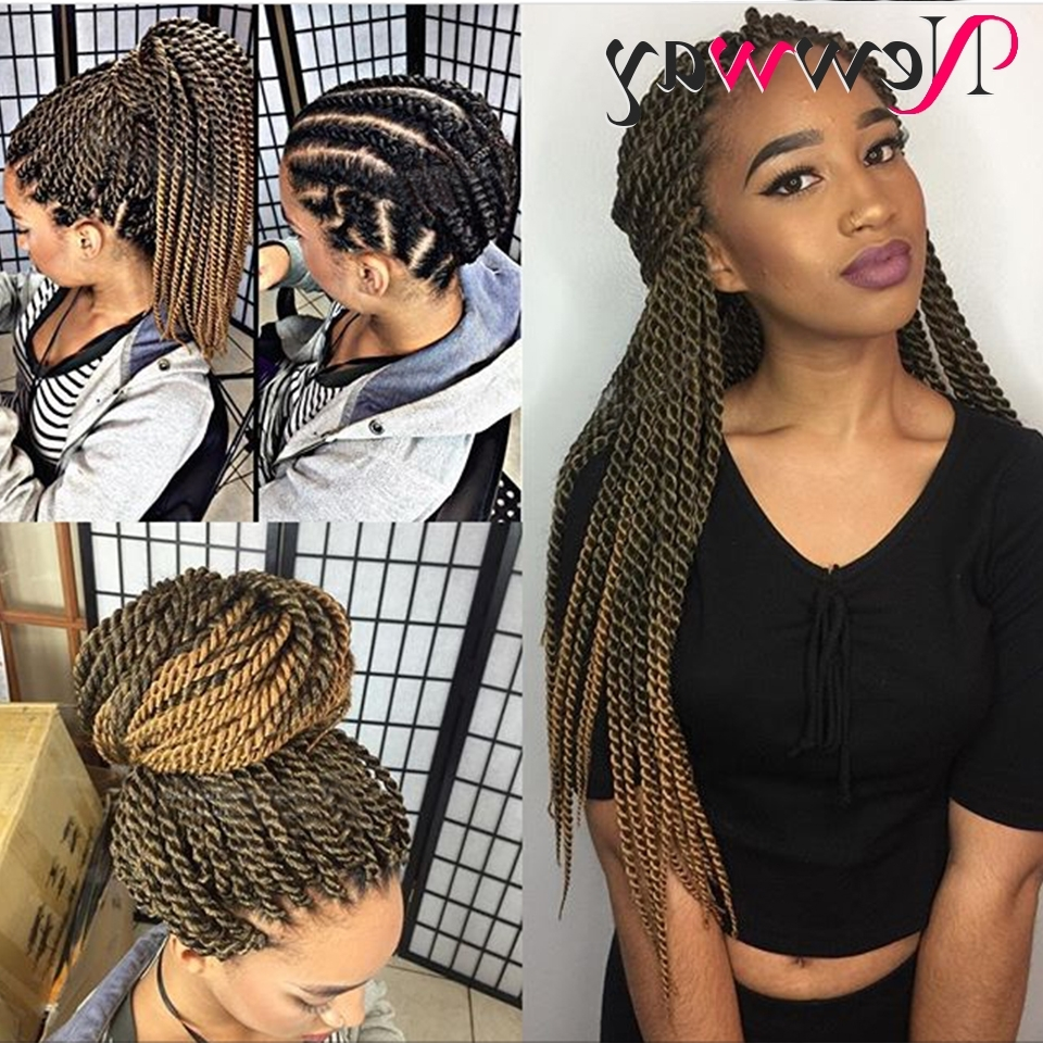 Most Recently Released Cornrows And Senegalese Twists Ponytail Hairstyles For Aliexpress : Buy 22Strands 22Inch 120Gram Senegalese Twist Hair (View 17 of 20)