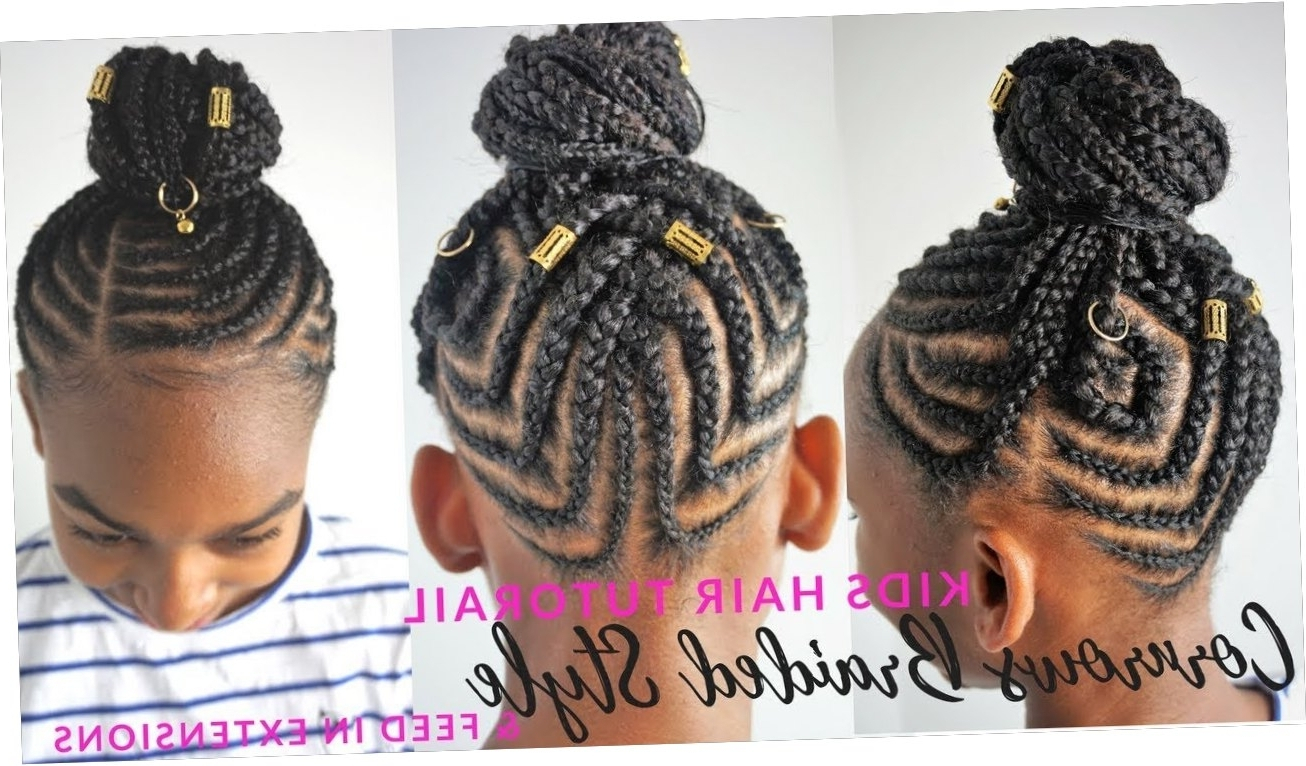 Most Recently Released Cornrows Hairstyles For Long Ponytail Regarding Kids Braided Hairstyles Tutorial (View 14 of 20)