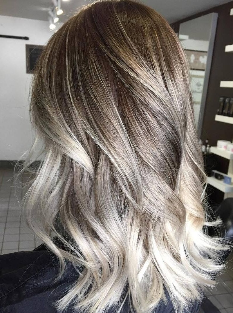 Most Recently Released Dark Blonde Into White Hairstyles With Platinum Blonde Highlights On Dark Blonde Hair 60 Balayage Hair (View 18 of 20)