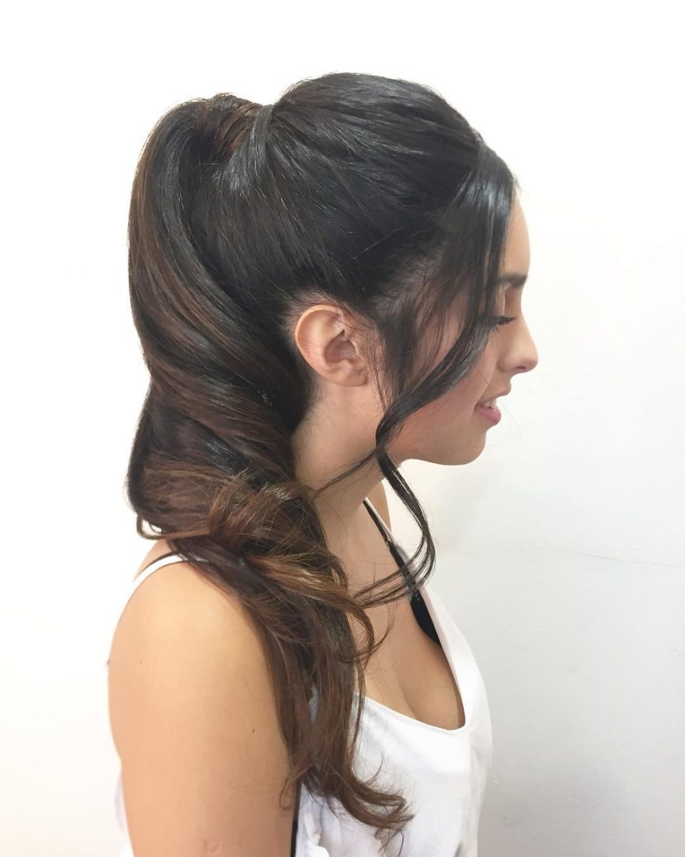 Most Recently Released Formal Side Pony Hairstyles For Brunettes Within 28 Super Easy Prom Hairstyles To Try (View 14 of 20)