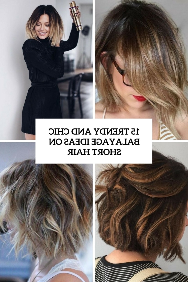 Most Recently Released Intricate Updo Ponytail Hairstyles For Highlighted Hair Regarding 12 Trendy Balayage Highlights Ideas For Short Hair (View 15 of 20)