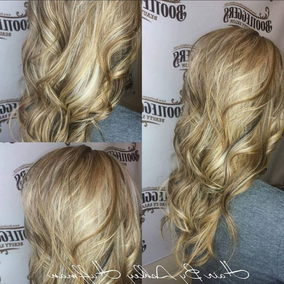 Most Recently Released Maple Bronde Hairstyles With Highlights For Heavy Honey Butter Blonde Highlights With Peekaboo Dark Chocolate (View 12 of 20)