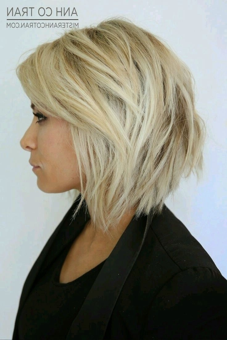 Most Recently Released Messy Blonde Lob With Lowlights Within Short Choppy Stacked Blonde Bob With Lowlights And Texture (View 16 of 20)