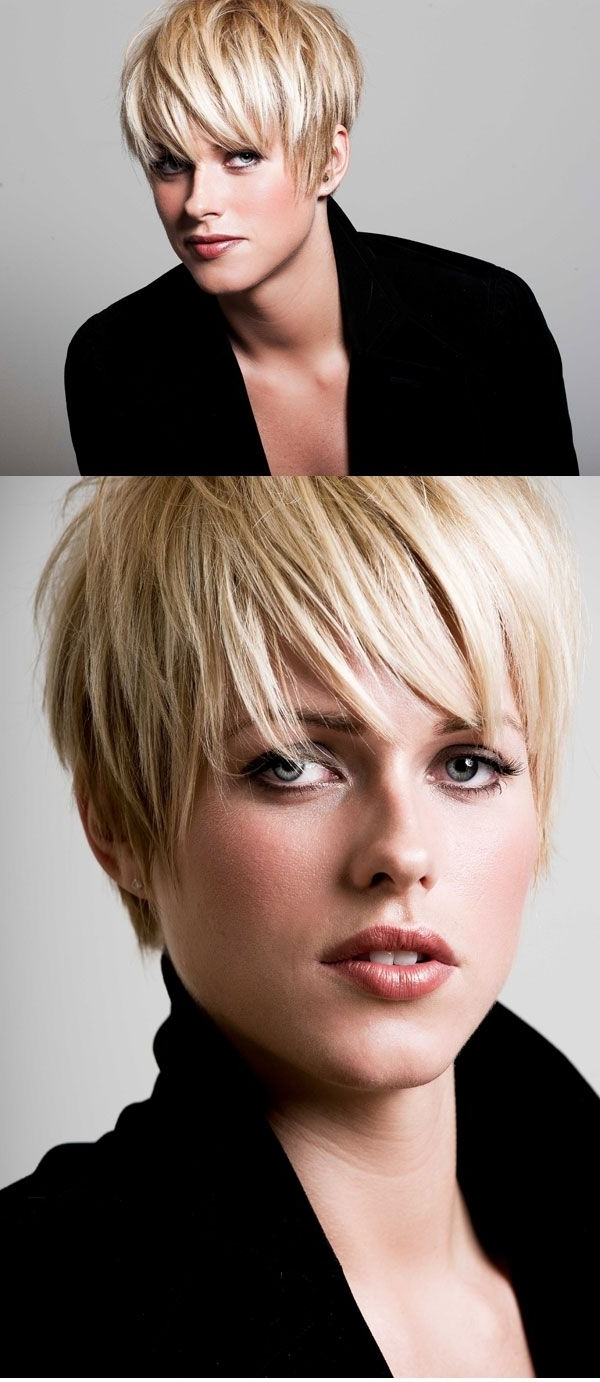 Most Recently Released Poker Straight Cool Blonde Style In Textured Short Cut – Hmmmmmmmi Have Poker Straight Hair (View 14 of 20)