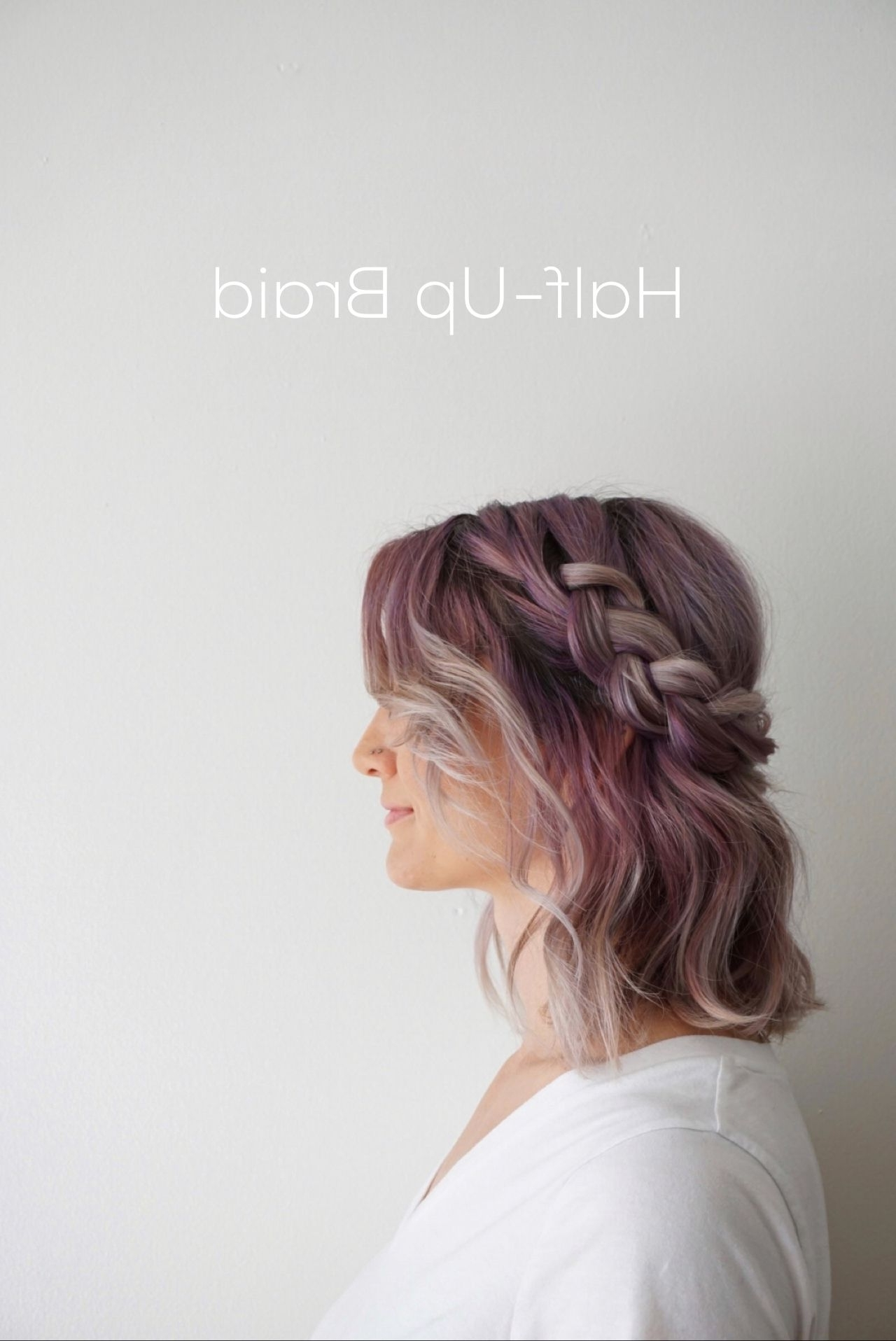 Most Recently Released Polished Upbraid Hairstyles With Regard To 5 Styling Ideas For Shoulder Length Hair Pinned From Cute Girls (View 12 of 20)